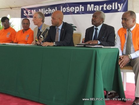 Haiti President Martelly Hurricane Press Conference
