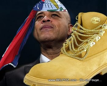 President Michel Martelly With Boots