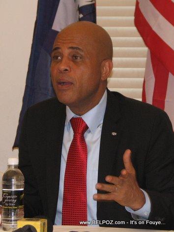 President Michel Martelly In Little Haiti Miami