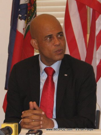 President Michel Martelly In Little Haiti Miami