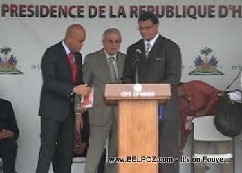 President Michel Martelly and Miami Mayor Tomas Regalado