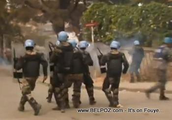 UN MINUSTAH Soldiers in Riot Gear