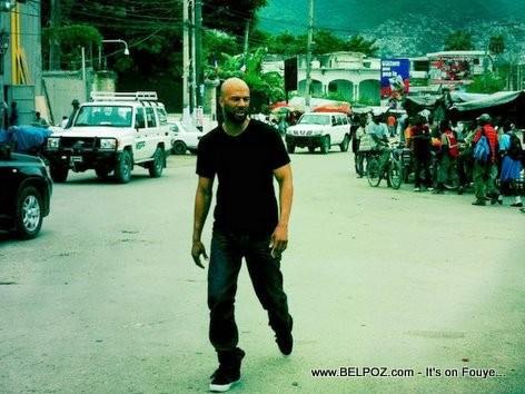 Rapper Common In Haiti