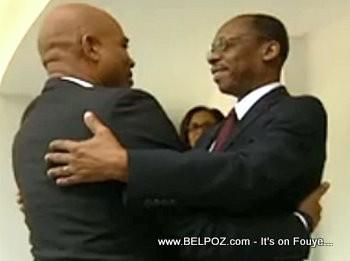 President Martelly Meets Former President Jean Bertrand Aristide