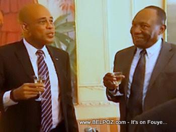 President Martelly Meets Former President Prosper Avril