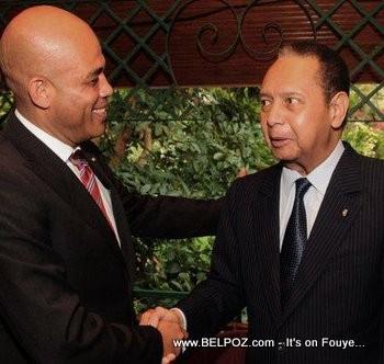 President Martelly Meets Former President Jean Claude Duvalier