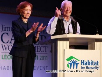 Jimmy Carter Leogane Haiti Housing Project
