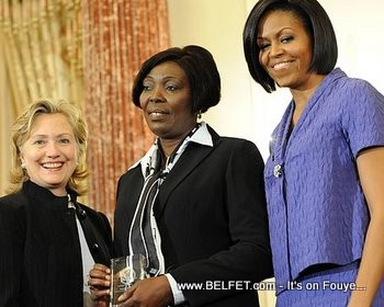 Sonia Pierre, Hillary Clinton and Michelle Obama
