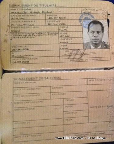Michel Martelly Haitian Passport