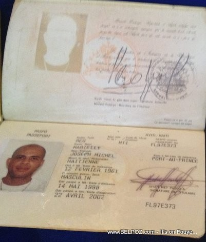 Michel Martelly Haitian Passport