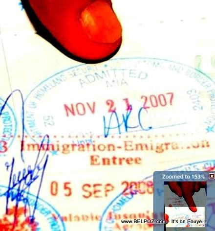 President Martelly Passport Stamp Nov 21 2007