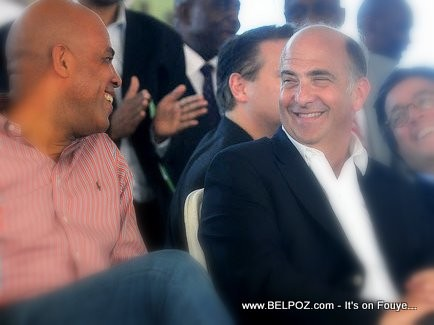 President Martelly, Ambassador Kenneth Merten