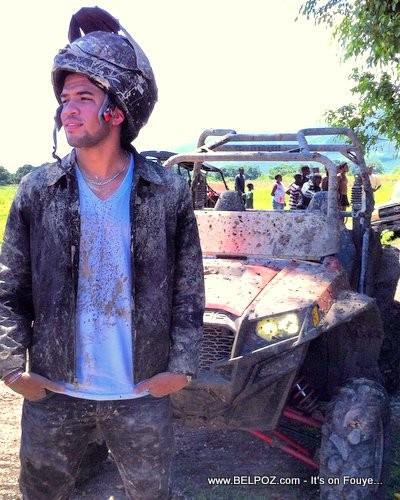 Olivier Martelly and his Polaris  Ranger ATV