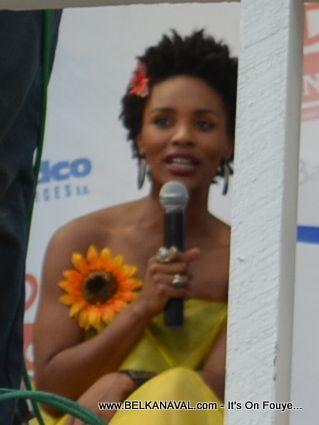 Gessica Geneus hosting Haiti Carnaval des Fleurs