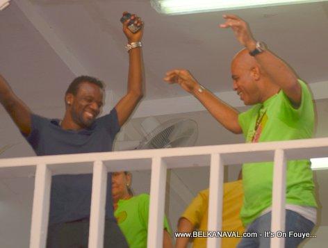Shabba ak President Martelly ap pran plezi yo nan Kanaval