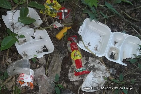 Haiti Trash - Plastics and Styrofoams
