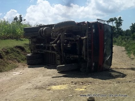 Car Accident Haiti - Truck Turnover