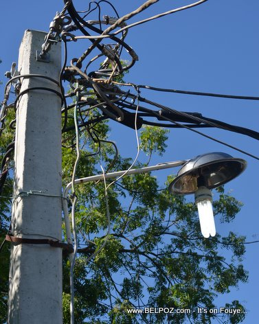 Poto Limye - Haiti EDH Electric Pole