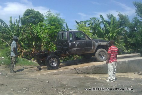 Carwash in Haiti - All Cars Welcome