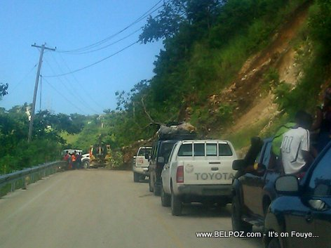 Landslide in Haiti - Route Nationale 3 - Peligre