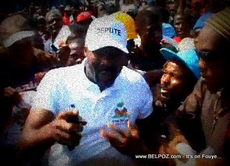 Depute Arnel Belizaire in Anti-Martelly Protest - 17 Oct 2013