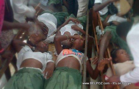 Gaz lacrimojene Cap Haitien Haiti