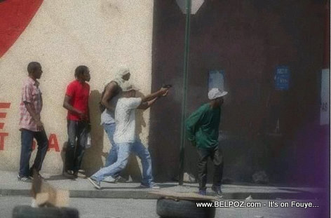 Armed civilians shooting in the streets