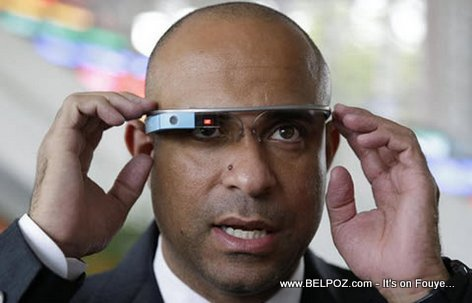 Haiti Prime Minister Laurent Lamothe Tries on Google Glass