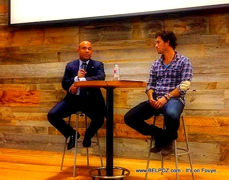 Haiti PM Laurent Lamothe and TOMS founder Blake Mycoskie