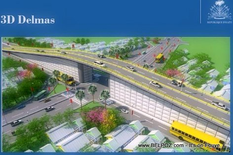 3D Look - Autoroute De Delmas - Boulevard Toussaint Louverture Overpass, Port-au-Prince, Haiti