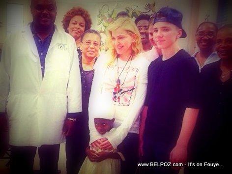 Madonna Visits Hospital in Mirebalais Haiti (Plateau Centrale)