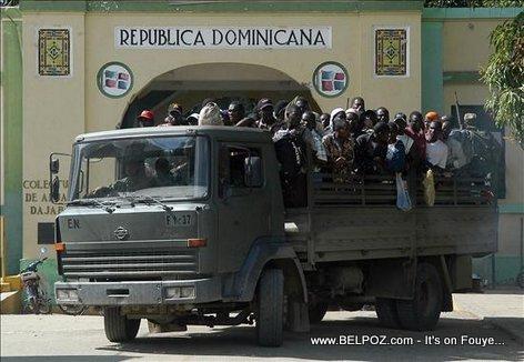 Yon Machinn Shaje Haitien ki ap Rapatrye soti Republique Dominicaine
