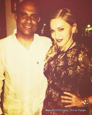 Haiti Prime Minster Laurent Lamothe and MADONNA