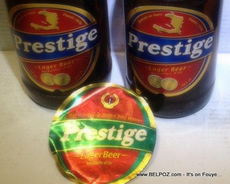 Haiti Prestige Beer - Compare New Label vs Old Label