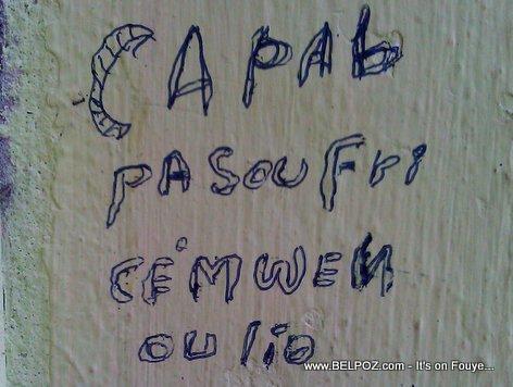 Capab Pa Soufri, Se Mwen Ou Li...