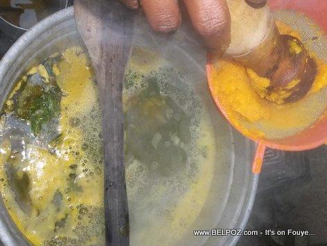 Soup Joumou Haiti - Tout engredian yo nan soup la, kitel bouyi