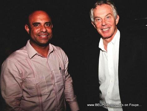 PM Laurent Lamothe and Tony Blair in Haiti