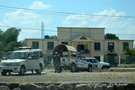 UN Soldiers Block access to Hinche Haiti Airport Strip