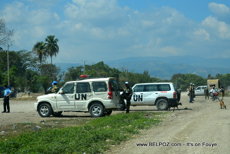 UN Sodiers secure Hinche Haiti Airport, President Martelly is coming
