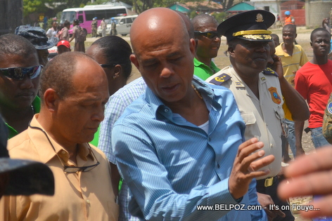Haiti President Martelly and Delegue Georges Garnier, Hinche Haiti
