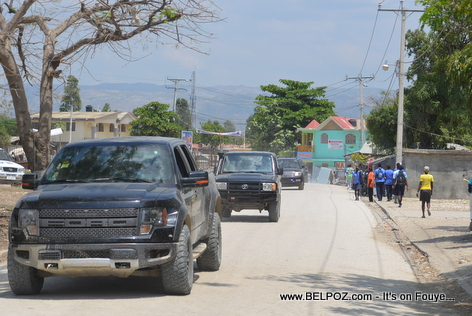 President Martelly - Arrival in Hinche Haiti