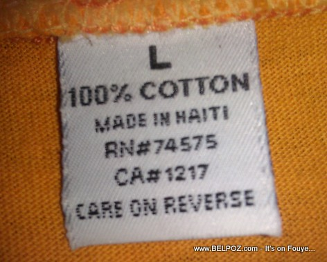 Made in Haiti Shirt Label