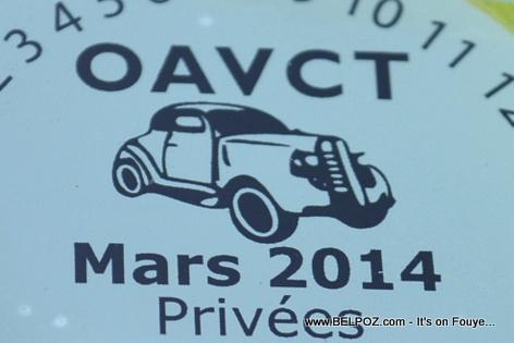 OAVCT Sticker - Assurance Vehicule Haiti
