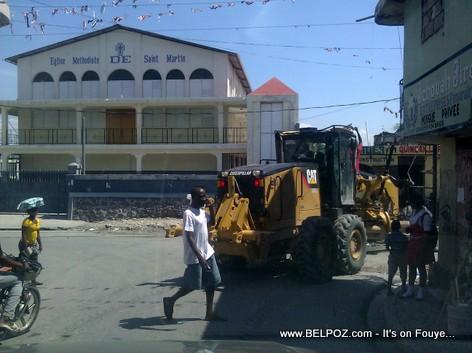 Haiti - Construction wout nan zone Belair