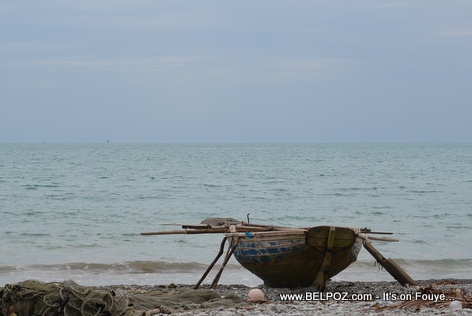 A fisherman boat by the ocean, Gelee Beach - Les Cayes Haiti