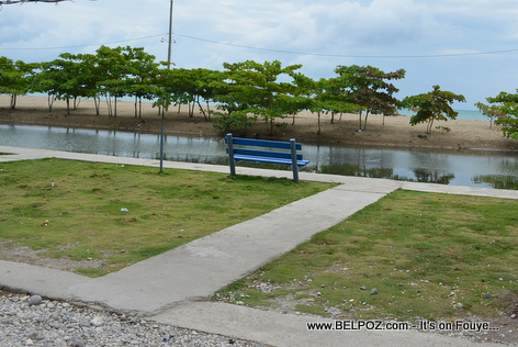 A River that ends at Gelee Beach - Les Cayes Haiti