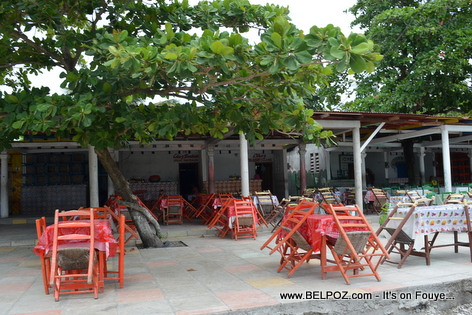 Restaurant Area at Gelee Beach - Les Cayes Haiti