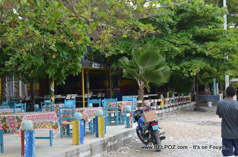 Restaurant area - Gelee Beach - Les Cayes Haiti
