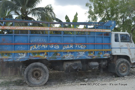 Haiti - Camion Boite - Old Transport truck