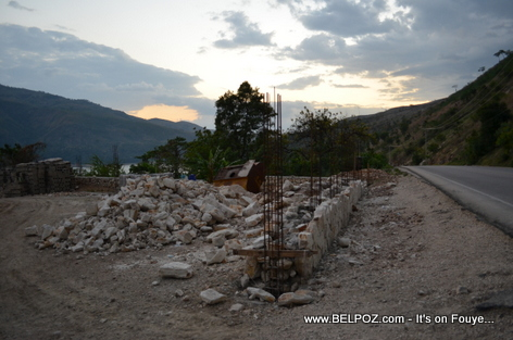Haiti Construction near the Fleuve Artibonite